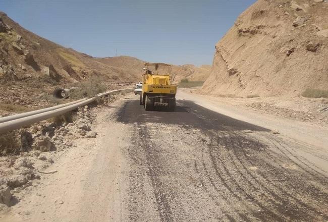 نقاط حادثهخیز جاده قدیم جایزان-امیدیه توسط شرکت نفت و گاز آغاجاری ایمنسازی شد