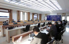 دیدار اعضای شورای اسلامی شهر اهواز با استاندار در خصوص رفع موانع و مشکلات حوضه شهری