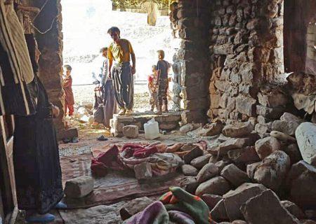 زمین لرزه در قلعه خواجه خوزستان هفت خانه را تخریب کرد