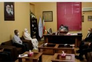 دیدار رهبر دینی اقلیت دینی صابئین با رییس توسعه حل اختلاف خوزستان