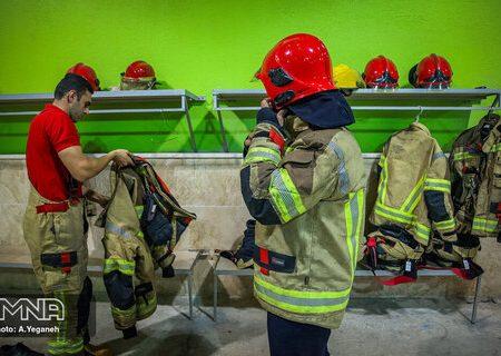 نجات جوان ۲۹ ساله از خودکشی توسط آتش نشانان اهوازی