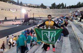 پرچم سبز نیشکر در ورزشگاه تاریخی آتن برافراشته شد